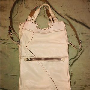 Lucky Brand White Leather Hobo Bag